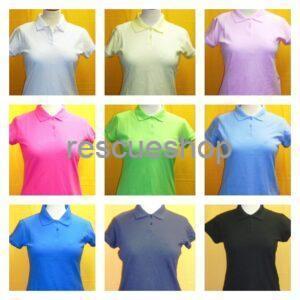 Női ingnyakas AMBULANCIÁS póló színes
