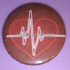 EKG görbés szív kiskitűző