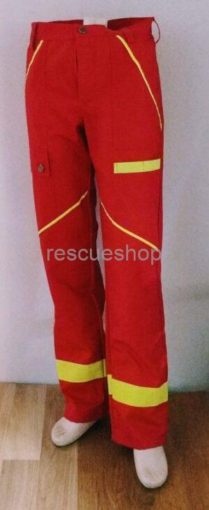 Mentős nadrág sok fényvisszaverővel piros,- sárga fényvisszaverővel