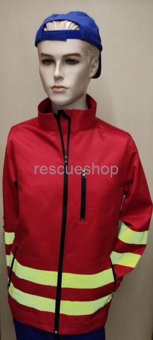 Mentős piros taktikai dzseki
