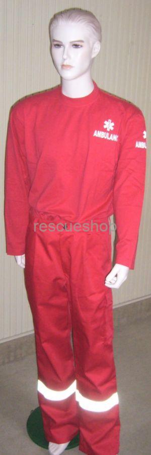 Mentős nadrág piros, ezüst fényvisszaverővel