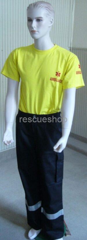 Környakas ambulanciás póló színes