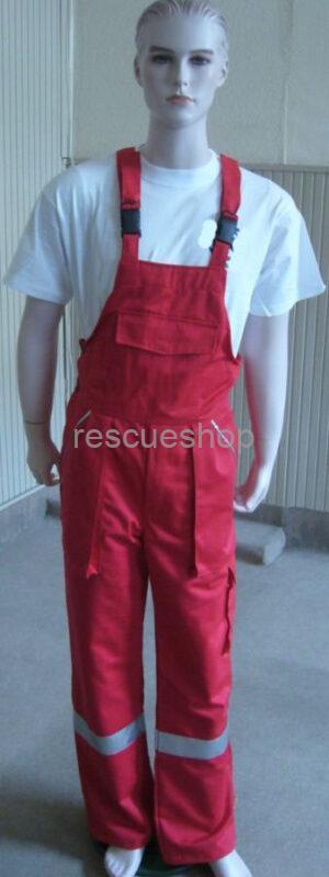 Kantáros nadrág sok fényvisszaverővel,- ezüst/piros