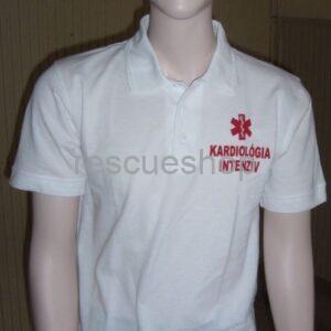 Kardiológiai intenzív feliratos ingnyakas póló