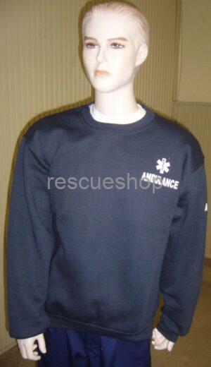 Környakas mentős pulóver színes- AMBULANCE felirattal