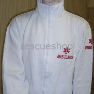 Galléros sürgősségi pulóver fehér AMBULANCE FELIRATOS