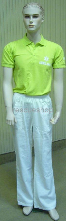 Műtős nadrág fehér