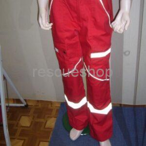 Rescue nadrág sok fényvisszaverővel piros,- ezüst fényvisszaverővel