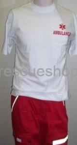 környakas rescue fehér póló AMBULANCE felirattal