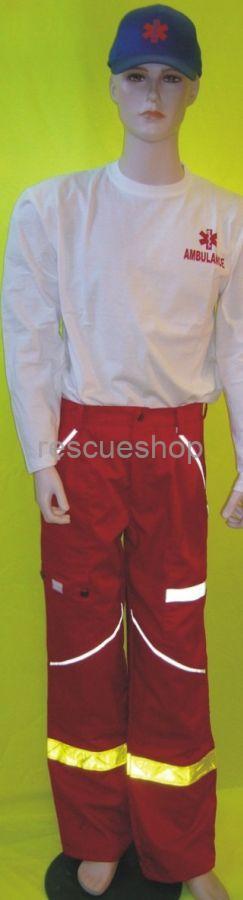 Környakas póló fehér AMBULANCE hosszú ujjú extra