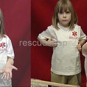 Gyermek AMBULANCE környakas póló