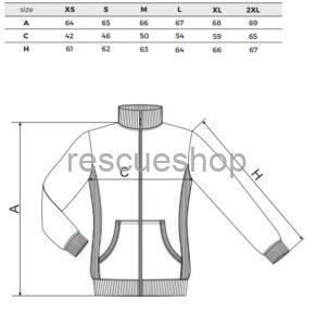Női karcsúsított galléros pulóver mérettábla