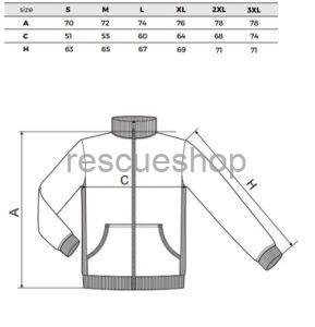 Galléros pulóver mérettábla