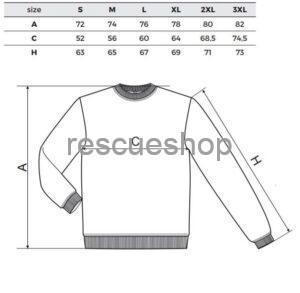 Környakas pulóver mérettábla