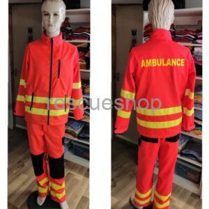 Mentő taktikai neonpiros fixbéléses dzseki